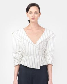 Mohawk - Le Top Marin in Off White/Blue Stripe - http://www.mohawkgeneralstore.com/products/le-top-marin-in-off-white-blue-stripe
