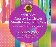 Getting Crafty with Jamie: Artistry Sunflower month long card class New Catalogue, Happy Mail, Starter Kit, Stampin Up, About Me Blog, Crafty, Cards, Fun, Maps