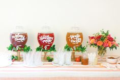 Iced tea bar: http://www.stylemepretty.com/living/2015/04/30/20-ideas-for-the-ultimate-mothers-day-brunch/