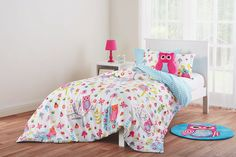 The Hootie quilt and scatter cushion set is one the designs in the new 'Esk' manchester range created exclusively for Fantastic Furniture by KAS Australia. Single $49, double $59. Scatter Cushions, Bedroom Furniture, Manchester, Comforters, Quilt, Range, Australia, Blanket, Home