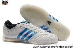 Adidas adipure 11Pro TRX IC - Running White-Bright Blue-Black Soccer Shoes On Sale