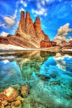 Italy -tre cime di lavaredo e lago di misurina