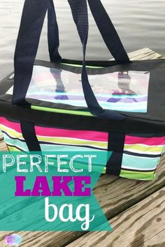 Whether you live on the lake like me or plan on visiting one sometime during this summer season, having the perfect lake bag to bring along is a necessity. Lake Beach, Beach Day, Beach Trip, Boat Organization, Boat Bag, Boat Stuff, Lake Cabins, Seen, Boat Rental