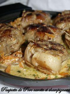 Paupiette de porc carottes et champignons - Dans vos assiettes