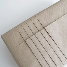 DIY - GIFT WRAPPING WITH JAPANESE PLEATS | DESIGN AND FORM