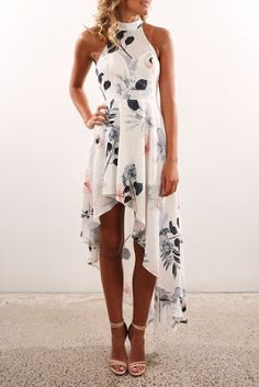 White Floral Sleeveless Maxi Dress 17 Fall Dress to Try - Style Spacez