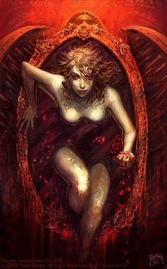"""""""Elizabeth Bathory"""" by yuko-rabbit @ deviantart Female Vampire, Vampire Girls, Vampire Art, Elizabeth Bathory, Dark Gothic, Gothic Art, Arte Horror, Horror Art, Dark Fantasy Art"""