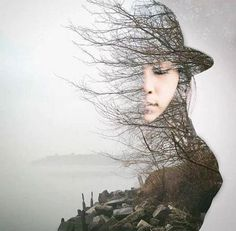 Stunning double exposure in Photoshop Portraits En Double Exposition, Exposition Multiple, Exposition Photo, Photography Projects, Creative Photography, Photography Tips, Portrait Photography, Photography Flowers, Digital Photography