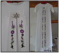 Dåpskjole med bunadsbroderi | Norwegian christening gown