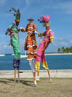 St. Croix Moko Jumbies... we watched one of these shows it was cool & scary at the same time at the fort by the pier.  Had some vodoo stuff if you are into that.