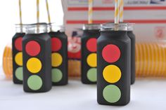 Traffic Light drink containers made by me :) The Party Muse ™