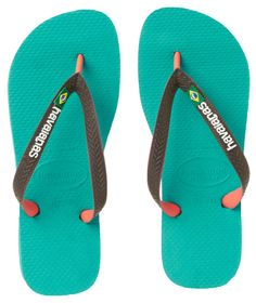 Havaianas Brasil Mix Flip Flops - Lake Green
