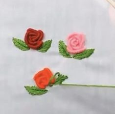 Brazilian Embroidery Stitches, Basic Embroidery Stitches, Hand Embroidery Videos, Hand Embroidery Tutorial, Creative Embroidery, Simple Embroidery, Beaded Embroidery, Embroidery Thread, Embroidery Supplies