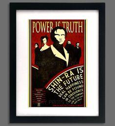 "Final Fantasy 7 Inspired ""Power is Truth"" Shin-Ra Propaganda Print Poster on Etsy, $15.00"