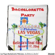 Las Vegas Bachelorette Welcome Sign Cinch Bags