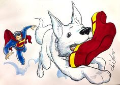 How superman finally gave up wearing underwear on the outside. Superman & Krypto by Aaron Kuder.