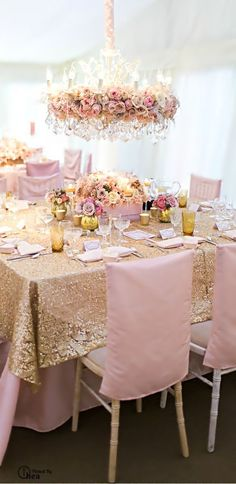 Pink and sparkle gold metallic