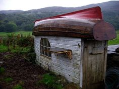 boat shed, Calgary Bay on the Isle of Mull, Argyll and Bute, Scotland