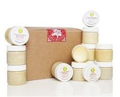 Organic All Nautral Taste of Shea Mini Shea Butter Sampler- Twelve 1 Oz Jars Included. Use for Moisturizing, Anit-aging, Eczema, Dry Skin and Stretch Marks