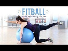 Ejercicios para tonificar glúteos y piernas con fitball | Principiantes - YouTube