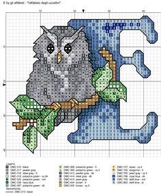 alfabeto degli uccellini: E