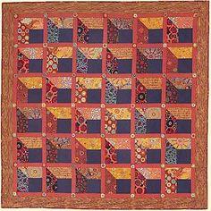 Kaffee Fassett Dark Windows quilt, Tennessee Quilts