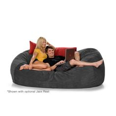 7 5ft Jaxx Lounger Microsuede Bean Bag Chair from Brookstone.  This would be pretty cool to have in the game room.