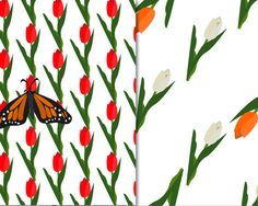 Spring Seamless Pattern Spring Digital Paper Pack by PrintShoppy