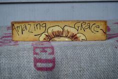Amazing Grace Hand Painted Wood Sign Spring Decor  by Ramshackles, $7.25