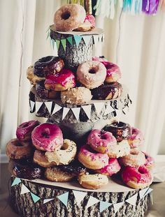 Instead of a traditional wedding cake, we adore the idea of a tall tray of deep fried deliciousness.  They are a tasty treat, everyone loves them and they are considerably lower-cost in cost than a traditional wedding cake. You can get externally creative on how you opt to display them, matching even the fanciest wedding themes.  Consider ordering your donuts online or just going to your local store to pick some up. Either way, we guarantee they will get eaten up. The above hybrid doughnut…
