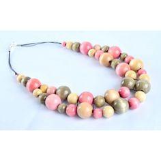 Naszyjnik z korali drewnianych Naturalny Raj, Beaded Necklace, Jewelry, Beaded Collar, Jewlery, Pearl Necklace, Jewerly, Schmuck, Beaded Necklaces