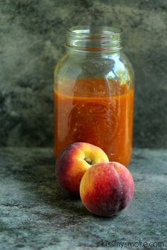 Peach Barbecue Sauce | kissmysmoke.com