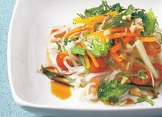 This tangy, light and refreshing noodle salad makes a great lunch. Double the recipe and serve it for dinner alongside barbecued chicken, as well.