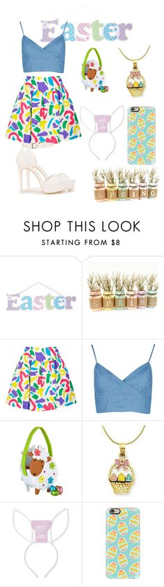 """easter"" by bekanadasi ❤ liked on Polyvore featuring Moschino, Harrods, Casetify and Nly Shoes"