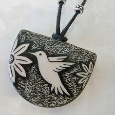 The Magical Animal - VIRGINIA MISKA CERAMIC JEWELRY Hummingbird Necklace, $30.00 (http://www.themagicalanimal.net/products/virginia-miska-ceramic-jewelry-hummingbird-necklace.html/)