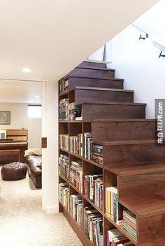awesome  stair/bookshelf