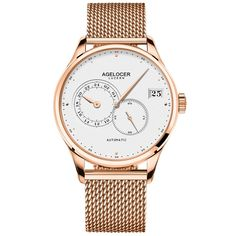 Cheap masculino, Buy Quality masculinos relogios directly from China masculino watch Suppliers: AGELOCER Luxury Automatic Mechanical Wristwatches Gold Stainless Steel Band Golden Men's Watch Waterproof Relogio Masculino Swiss Watch Brands, Mens Watch Brands, Automatic Watches For Men, Stainless Steel Mesh, Luxury Watches For Men, Watch Bands, Luxury Branding, Wrist Watches, Men's Watches