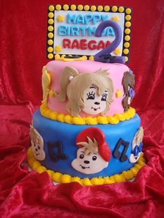 ALVIN & THE CHIPMUNKS & THE CHIPETTES CAKE by Soad - A - Mae's, via Flickr
