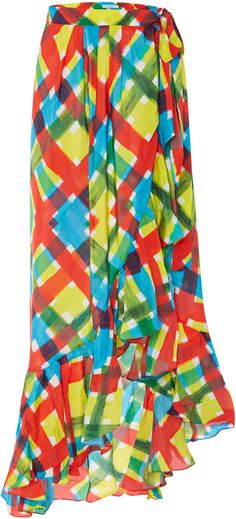 Isolda Silk Carmem Print Skirt