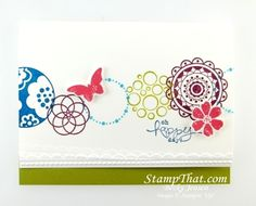 Stampin' Up! Circle Circus stamp set  Cool idea to use multiple stamps if you don't have this set