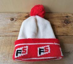 c0baad7da45 FS Brand Original Vintage 80s Promo Beanie Knit Toque Pom Winter Ski Hat  Seed Feed Farm. Etsy