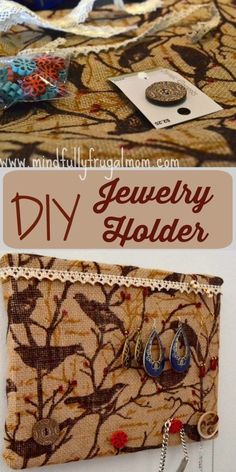 DIY Jewelry Holder - Easy and No-Sew!