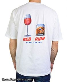 Tommy Bahama Red Rum Short Sleeve Cotton Jersey Tee (TR210897) XXL/White