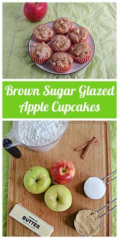 We can't get enough of these sweet and tart Apple Cupcakes with Brown Sugar Glaze! #apples #cupcakes #fall   Fall Recipes   Apple Recipes   Cupcake Recipes   Dessert Recipes Cupcakes Fall, Apple Cupcakes, How To Make Cupcakes, Cinnamon Cupcakes, Cinnamon Apples, Best Apple Recipes, Fall Recipes, Cupcake Recipes, Dessert Recipes