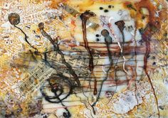 Music - sold Encaustic Art, Texture Art, Wales Uk, Abstract, Artist, Trail, Mixed Media, Wax, Layers