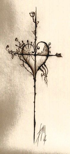 Love the simplicity of this. Original link seems to be broken, but found at: http://browse.deviantart.com/?qh=&section=&q=cross+tattoo#/d19fk6b
