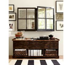 Mirror Cabinet TV Covers | Pottery Barn