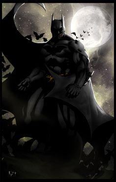 Erik Von Lehmann: The Dark Knight - Erik Von Lehmann Nightwing, Batgirl, Catwoman, I Am Batman, Batman Art, Batman Universe, Universe Art, Batman The Dark Knight, Afraid Of The Dark