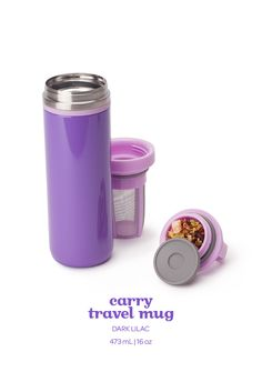 SPRING 2015 - Everyone's favourite leakproof travel mug, in a chick shade of lilac purple. Coffee Time, Tea Time, Davids Tea, Pretty Mugs, Lilac, Purple, My Tea, Tea Mugs, Travel Mug
