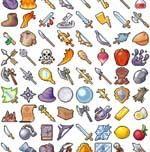 RPG Pixel Art Sprites items | 420 pixel art icons for medieval/fantasy RPG